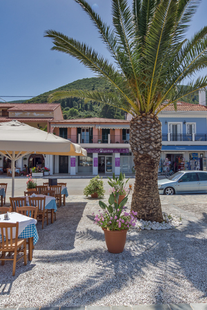 SAMI, KEFALONIA, GREECE - MAY 26 2015:   Panorama of Port of town of Sami, Kefalonia, Ionian islands, Greece Editorial