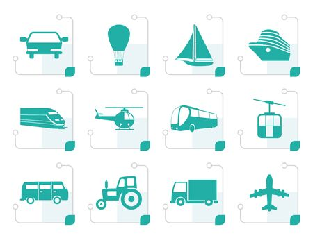 sailer: Stylized Transportation and travel icons