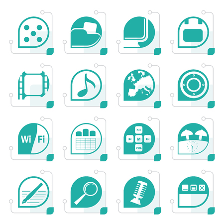 polyphony: Stylized Phone Performance, Internet and Office Icons