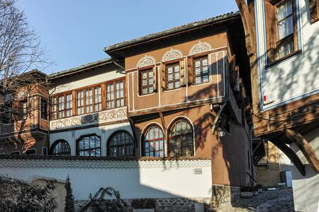 old town house: PLOVDIV, BULGARIA - JANUARY 2 2017: House from the period of Bulgarian Revival in old town of Plovdiv, Bulgaria Editorial