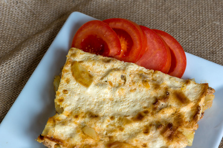 balkan: Moussaka - a traditional Balkan specialty with minced meat and potatoes