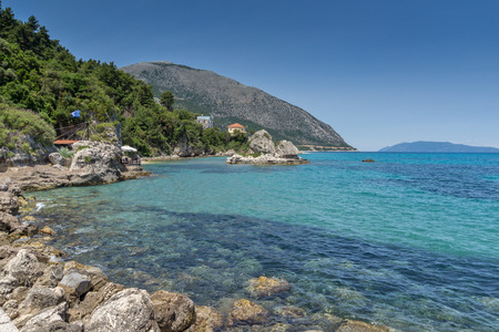 cefalonia: beach of town of Poros, Kefalonia, Ionian Islands, Greece