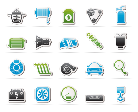 brake disc: Car part and services icons 2 - vector icon set Illustration