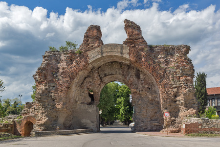 The South gate known as The Camels of ancient roman, fortifications in Diocletianopolis, town of Hisarya, Plovdiv Region, Bulgaria Stock Photo