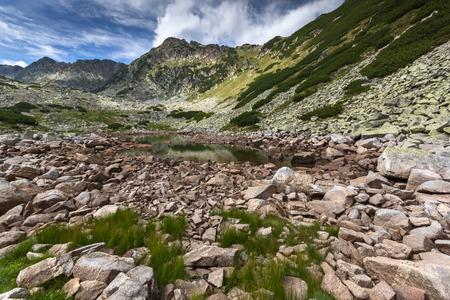 Amazing Panorama of Rocky Hills in Rila mountain, Bulgaria Stock Photo