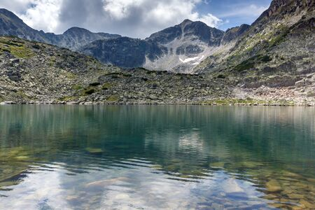 Panorama of Musalenski lakes amd Musala peak, Rila mountain, Bulgaria