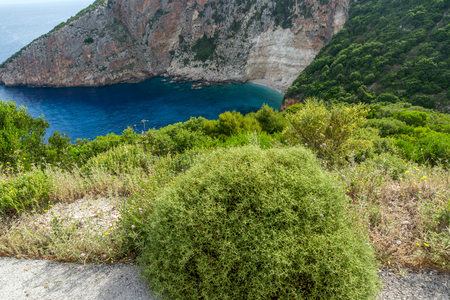 ionian: Blue water and rocks of small beach at Zakynthos island, Greece
