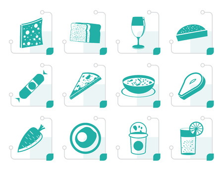 tinned: Stylized Shop, food and drink icons 2 - vector icon set