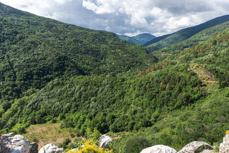 assen: Amazing Landscape to  Rhodopes mountain from Asens Fortress,  Plovdiv Region, Bulgaria