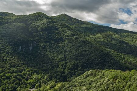 balkan peninsula: Amazing Landscape to  Rhodopes mountain from Asens Fortress,  Plovdiv Region, Bulgaria