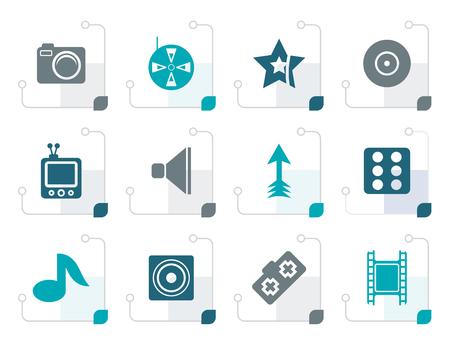 favorite colour: Stylized Entertainment Icons