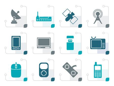 communications technology: Stylized technology and Communications icons