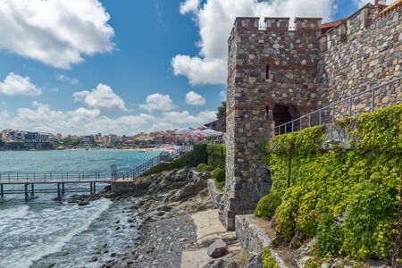 archeologist: Amazing panorama with Ancient fortifications in old town of Sozopol, Burgas Region, Bulgaria