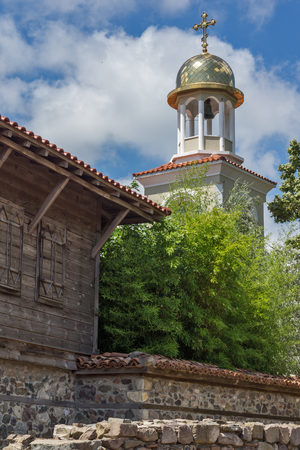 archeologist: Panorama of Ancient Sozopol ruins and the church of St. George, Bulgaria Stock Photo