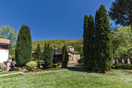 Panoramic view of Temski monastery St. George, Pirot Region, Republic of Serbia