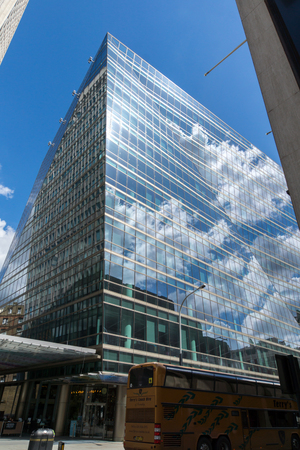 LONDON, ENGLAND - JUNE 15 2016: Modern business building in City of London, England, Great Britain