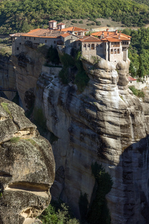 Outside view of Holy Monastery of Varlaam in Meteora, Thessaly, Greece Stock Photo
