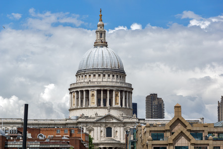 LONDON, ENGLAND - JUNE 15 2016: Amazing view of St. Paul Cathedral in London, Great Britain