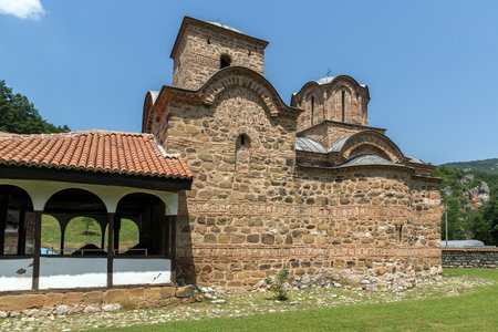 Amazing view of medieval Poganovo Monastery of St. John the Theologian, Serbia