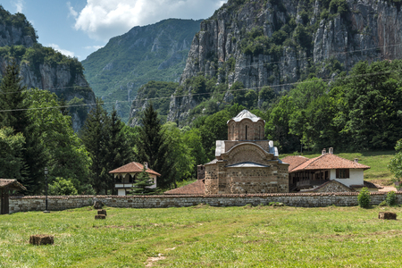 theologian: Amazing view of medieval Poganovo Monastery of St. John the Theologian, Serbia