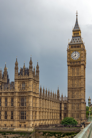 LONDON, ENGLAND - JUNE 16 2016: Houses of Parliament, Westminster Palace, London, England, Great Britain