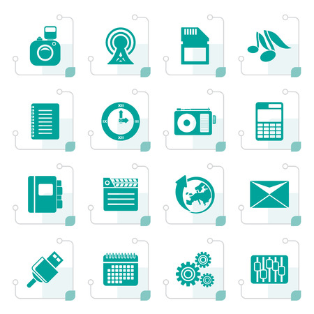 polyphony: Stylized Phone Performance, Business and Office Icons - Vector Icon Set