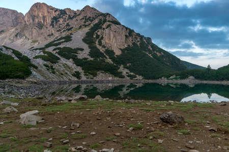 Amazing Sunrise of Sinanitsa peak and  the lake, Pirin Mountain, Bulgaria
