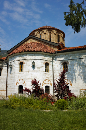 BACHKOVO MONASTERY, BULGARIA - AUGUST 30 2015:  Panoramic view of Medieval Bachkovo Monastery, Bulgaria Editorial