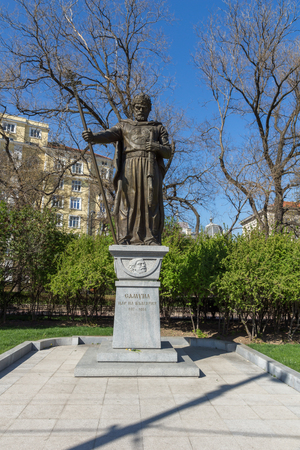 samuel: SOFIA, BULGARIA - APRIL 1, 2017: Monument of Bulgarian Tsar Samuel, Sofia, Bulgaria
