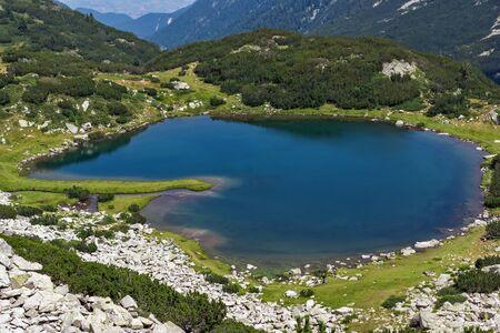 Panoramic view of Muratovo lake, Pirin Mountain, Bulgaria