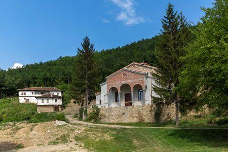 Panoramic view of medieval Sukovo Monastery Assumption of Virgin Mary, Serbia Stock Photo