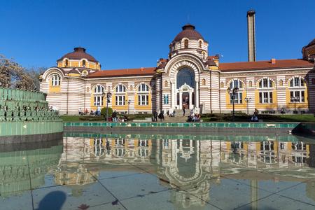 SOFIA, BULGARIJE - APRIL 1, 2017: Centraal Mineraal Bad - Geschiedenismuseum van Sofia, Bulgarije Redactioneel
