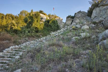architect: Amazing view The ancient Thracian city of Perperikon, Kardzhali Region, Bulgaria Stock Photo