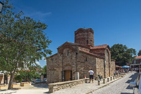 NESSEBAR, BULGARIA - 30 JULY 2014: Church of St. John the Baptist in the town of Nessebar, Burgas Region, Bulgaria Editorial