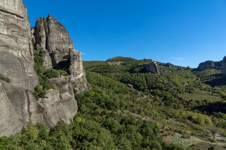 Amazing landscape of Rocks formation near Meteora, Thessaly, Greece Stock Photo