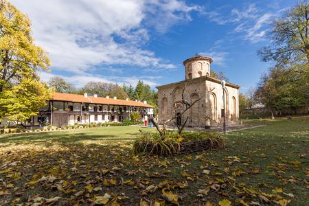 theologian: ZEMEN, BULGARIA - 9 OCTOBER 2016: Amazing view of medieval  Zemen Monastery, Pernik Region, Bulgaria Editorial