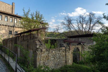 VELIKO TARNOVO, BULGARIA - 9 APRIL 2017: Ruins of Church of St. Spas in city of Veliko Tarnovo, Bulgaria Editorial