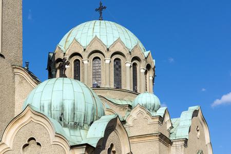 VELIKO TARNOVO, BULGARIA - 9 APRIL 2017: Cathedral church of Nativity of the Virgin Mary in city of Veliko Tarnovo, Bulgaria