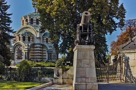 PLEVEN, BULGARIA - 20 SEPTEMBER 2015: St. George the Conqueror Chapel Mausoleum, City of Pleven, Bulgaria Editorial