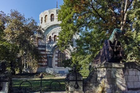 george: PLEVEN, BULGARIA - 20 SEPTEMBER 2015: St. George the Conqueror Chapel Mausoleum, City of Pleven, Bulgaria Editorial