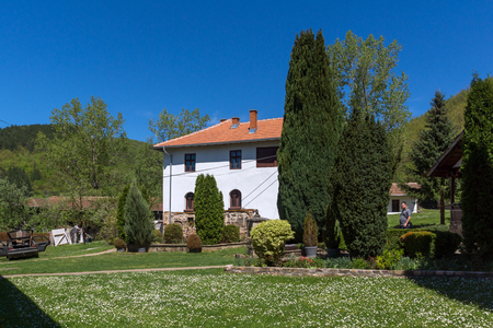TEMSKI MONASTERY, SERBIA - 16 APRIL 2016: View of Temski monastery St. George, Pirot Region, Republic of Serbia