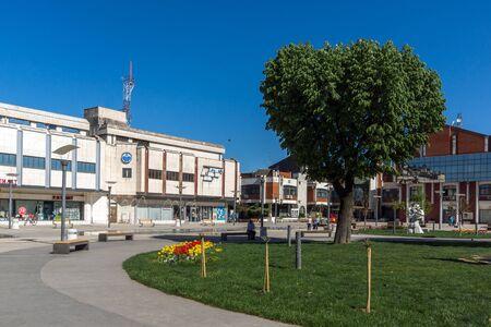 PIROT, SERBIA -16 APRIL 2016: Center of  town of Pirot, Republic of Serbia