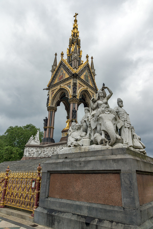 LONDON, ENGLAND - JUNE 18 2016: Prince Albert Memorial, London, Great Britain Editorial