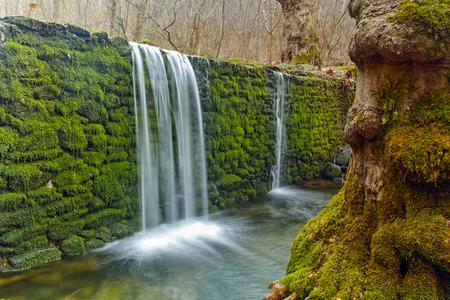 Amazing Waterfall on Crazy Mary River, Belasitsa Mountain, Bulgaria Stock Photo