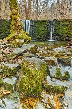 cataract falls: Amazing Waterfall on Crazy Mary River, Belasitsa Mountain, Bulgaria Stock Photo