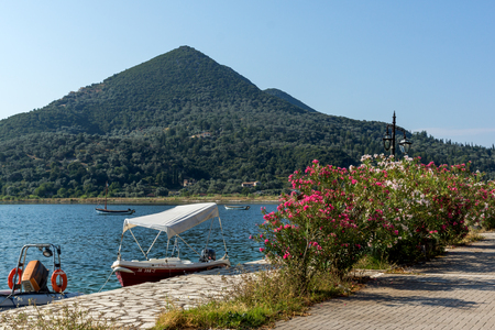 NYDRI, LEFKADA, GREECE JULY 17: Port at Nydri Bay, Lefkada, Ionian Islands, Greece Editorial