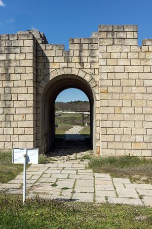 Ruins of The capital city of the First  Bulgarian Empire medieval stronghold Great Preslav (Veliki Preslav), Shumen Region, Bulgaria