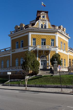 SHUMEN, BULGARIA - APRIL 10, 2017:  Building of Military Club in city of Shumen, Bulgaria