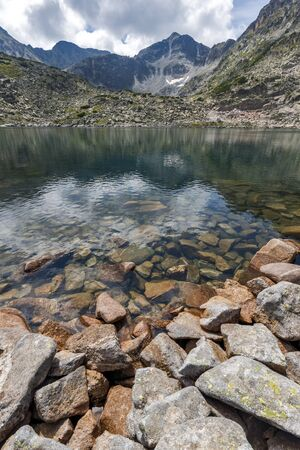 Amazing Panoramic view of Musalenski lakes and Musala peak, Rila mountain, Bulgaria