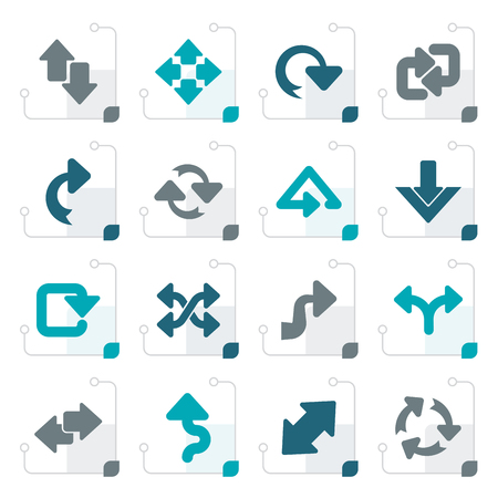 Stylized different kind of arrows icons - vector icon set